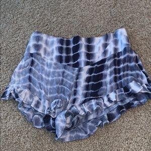 Blue Tye Dye Shorts